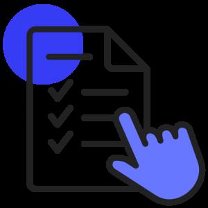 contrat bleu sombre
