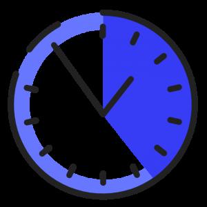 horloge bleu sombre