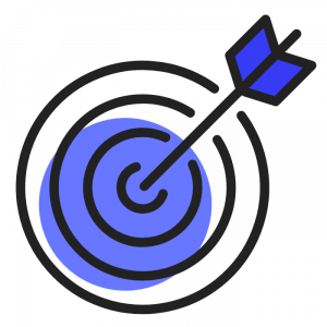 cible bleu sombre