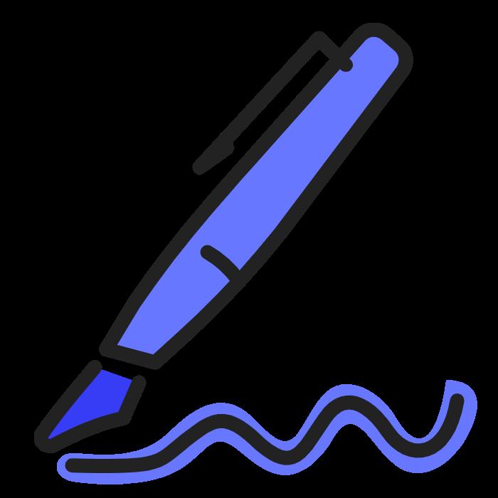 signature bleu sombre